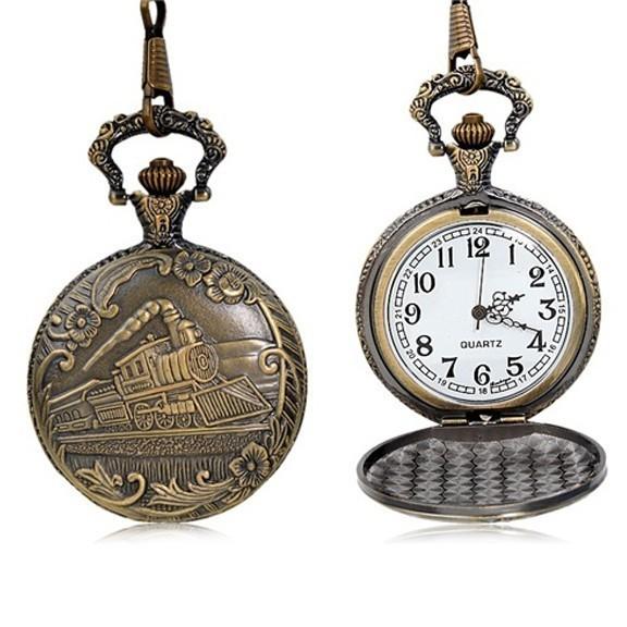 Карманные часы с крышкой «Поезд»Карманные часы<br>Ослепительные винтажные карманные часы с крышкой – это лучший презент настоящему мужчине. Немедля аккуратно поясните, как носят аксессуар, и получите массу теплых слов в ваш адрес. Мужчину сведет с ума ваша внимательность и обходительность!<br>