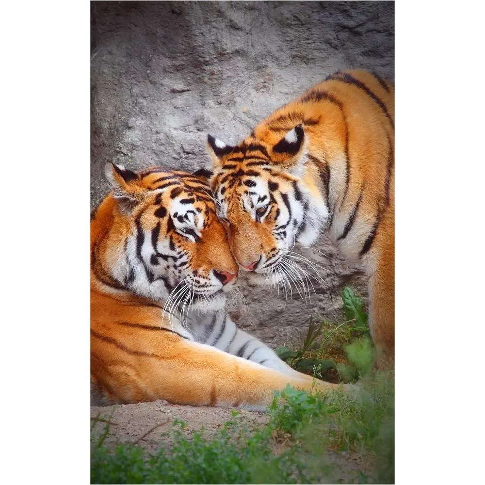 Гибкий настенный обогреватель Jarkoff - Тигры