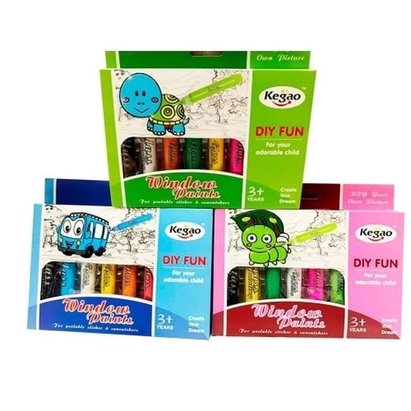 Купить Витражные краски Kegao, цвет микс, Для рисования