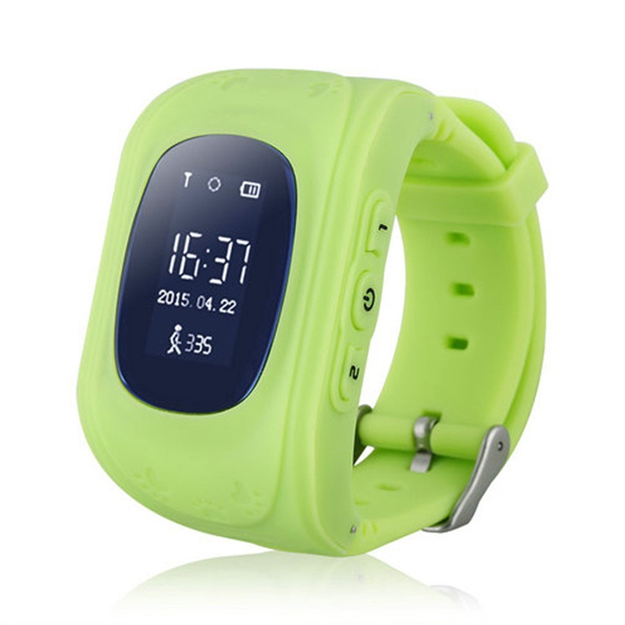 Детские часы GPS трекер Smart Baby Watch Q50 — зеленые