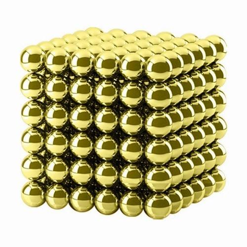 Купить Магнитная головоломка - Куб из шариков, Золотой, Игрушки Антистресс