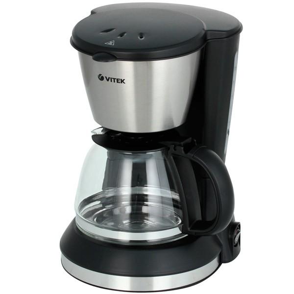 Кофеварка Vitek VT-1506(BK)Кофеварки и кофемашины<br>Если Вы выбираете качественную и удобную в процессе эксплуатации капельную кофеварку, обратите внимание ан такую современную модель как Vitek VT-1506 BK. Она не вызовет сложностей как в процессе эксплуатации, так и во время обслуживания!<br>