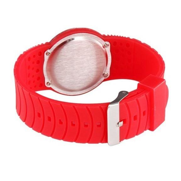 Ультратонкие силиконовые LED часы Nexer G1218 красныеСпортивные LED часы<br>Сенсорные часы в минималистском дизайне. Часы имеют стильный вид, и с той же эффектностью показывают время. Корпус часов: выполнен из нержавеющего сплава, защищен от брызг<br>