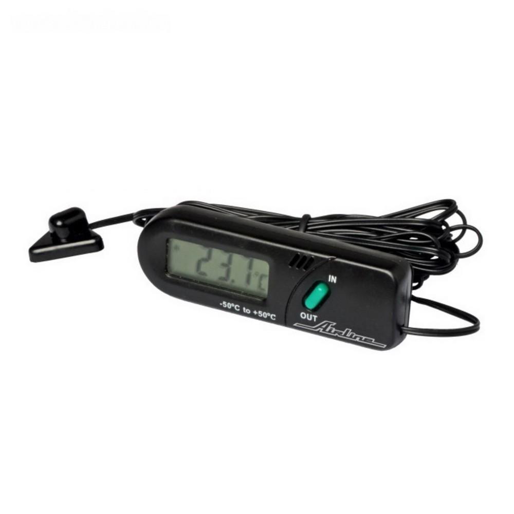 Термометр цифровой с выносным датчиком Airline ATD-01Остальное<br>Хотите точно определить температуру воздуха в салоне автомобиле или в гараже? Особенно эта информация является ценной для людей, которые часто сталкиваются с простудными заболеваниями. Точную информацию вам представит цифровой термометр с выносным датчиком Airline ATD-01!<br>