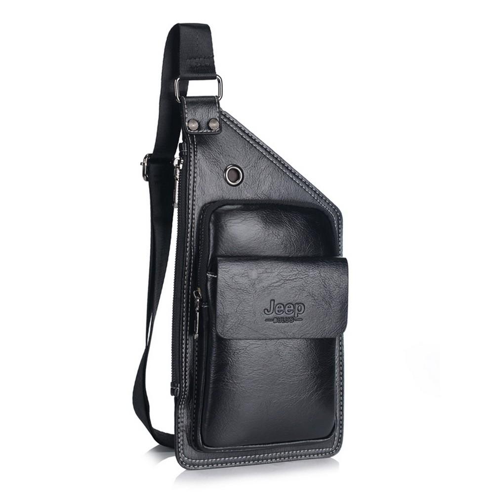 Кожаная сумка Jeep buluo, Черный
