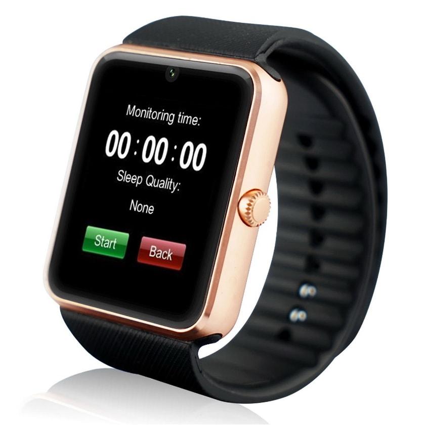 Умные часы GT08 watch - GoldУмные Smart часы<br>Полная и расширенная функциональность, поддержка Android и 95% прошивок. GT08 Smart Watch – это маленький смартфон у вас на руке, который умеет все основные функции телефона и даже больше! Принимает звонки, фотографирует, записывает видео, следит за вашим распорядком дня, считает шаги и калории, проигрывает музыку и многое другое! В трех цветах: золотой, серебро, черный.<br>
