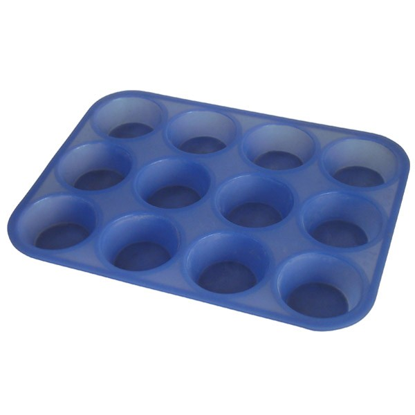 Форма силиконовая для выпечки кексов, 12 ячеек Regent InoxСиликоновые формы<br>Всегда мечтали научиться готовить маффины? А может ваши близкие часто просят вас спечь кексы? Предлагаем вам удобную силиконовую форму для выпечки кексов, состоящую из 12 ячеек Regent Inox.<br>
