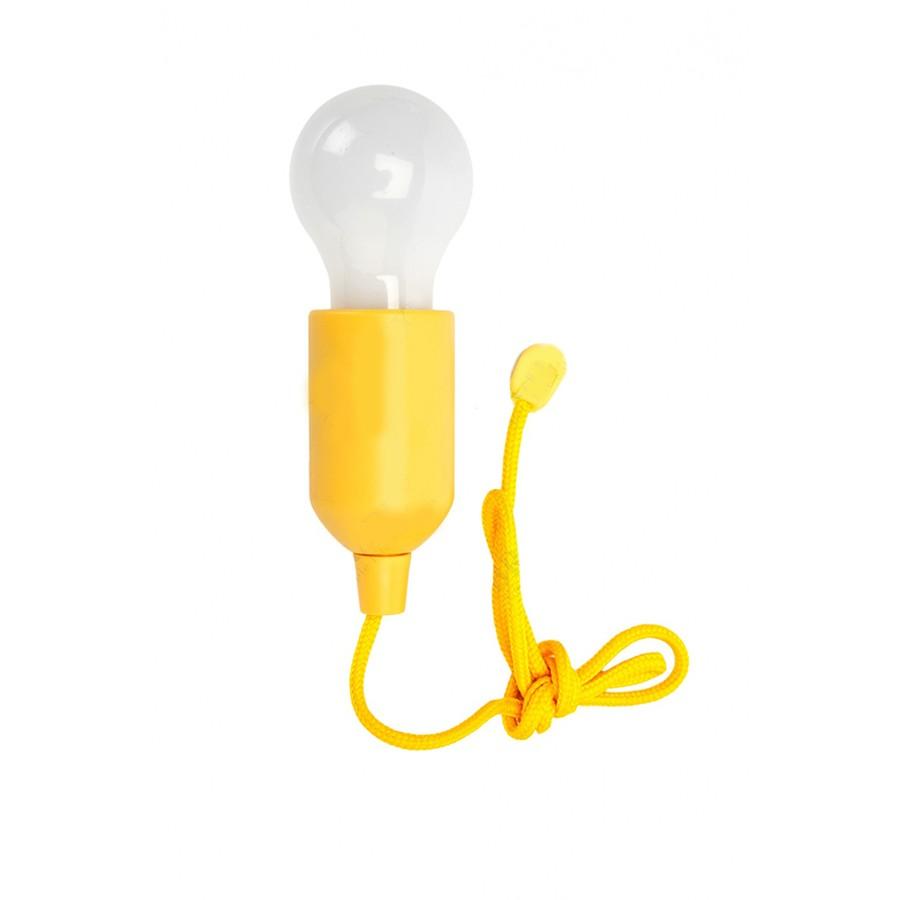Светильник светодиодный Лампочка на шнурке, цвет желтый