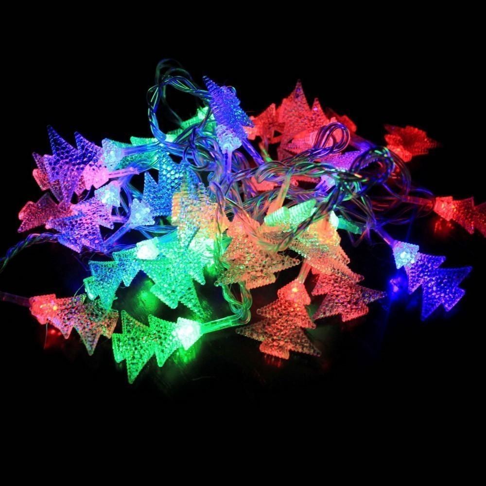 Электрическая светодиодная гирлянда - Ёлочки от MELEON