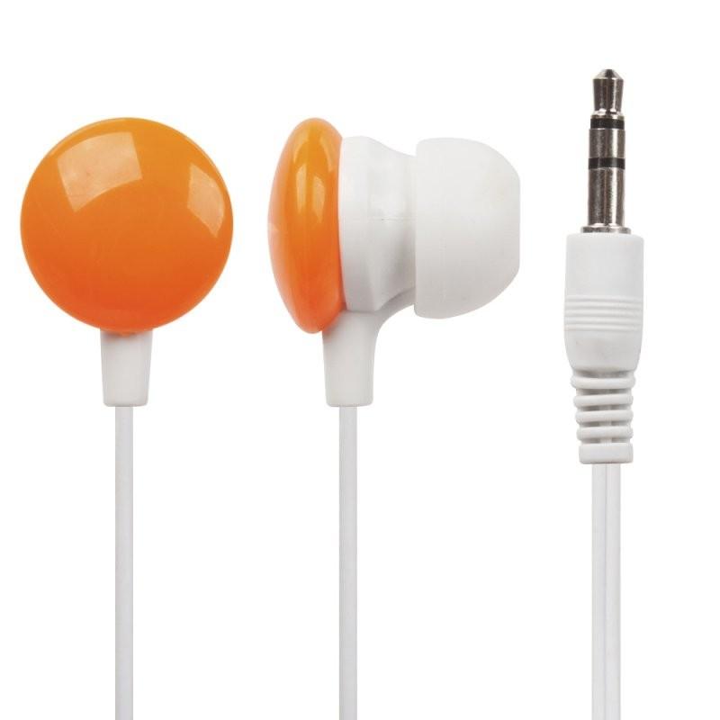 Наушники «LP» для MP3 плееров «Конфетки» разъем 3,5 мм. (вставные/оранжевые)
