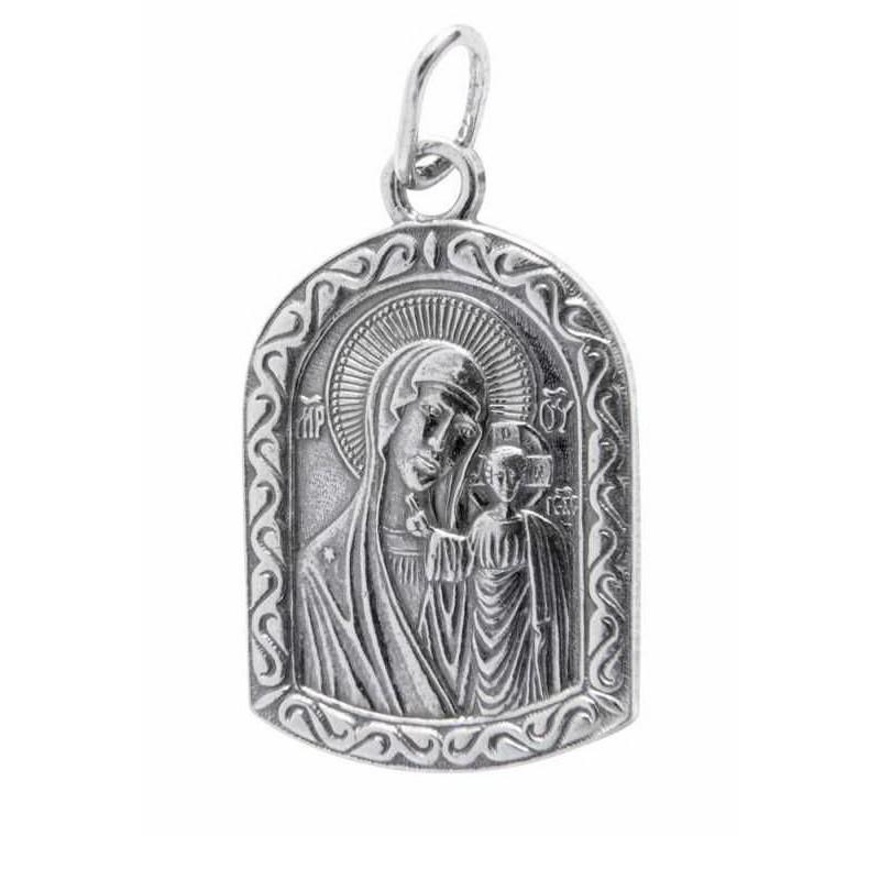 Нательная икона Казанская икона Божией Матери