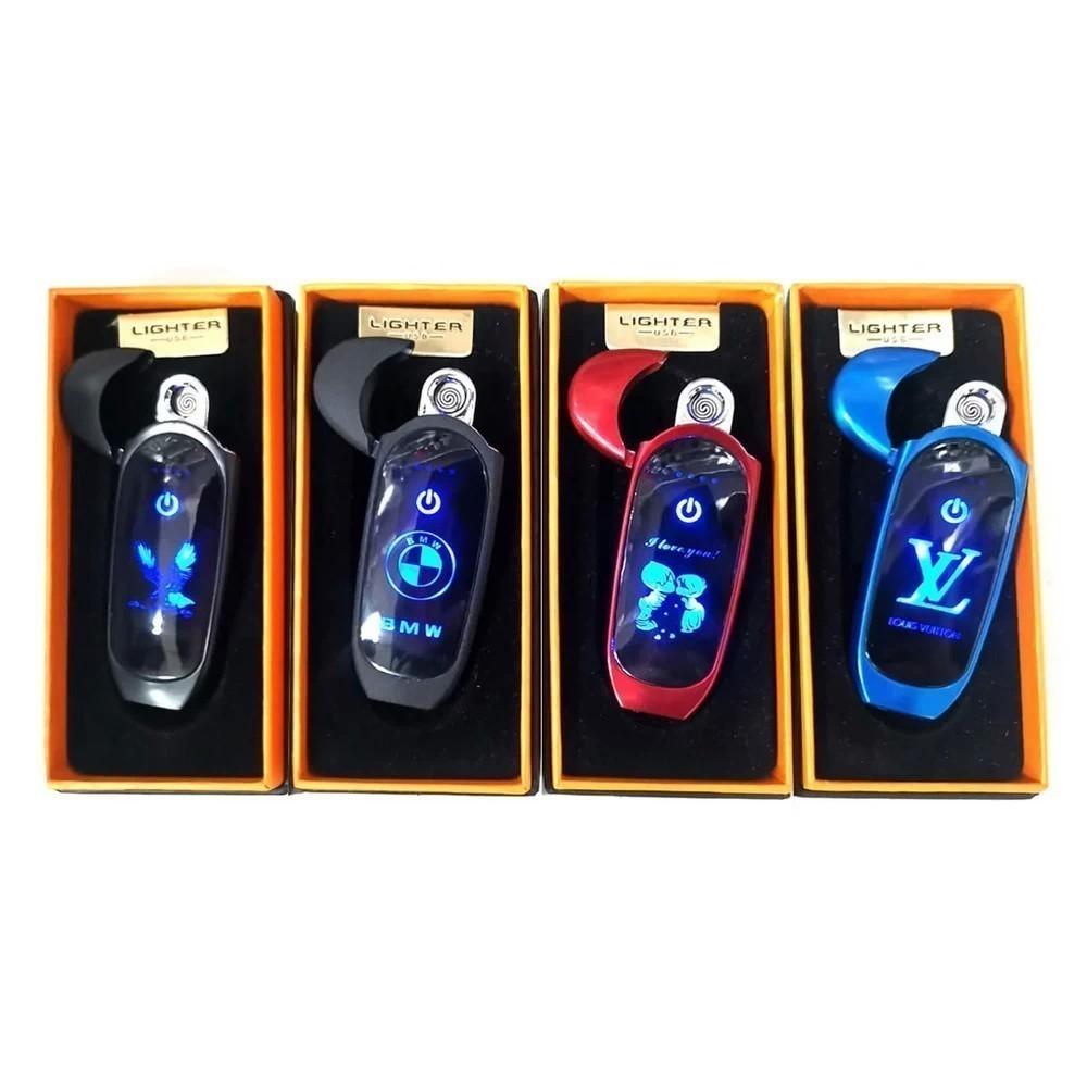 Зажигалка с USB-разъёмом с изображением, синий