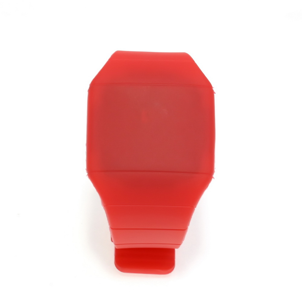 Ультратонкие силиконовые LED часы Nexer G1206, Квадратные, Красный