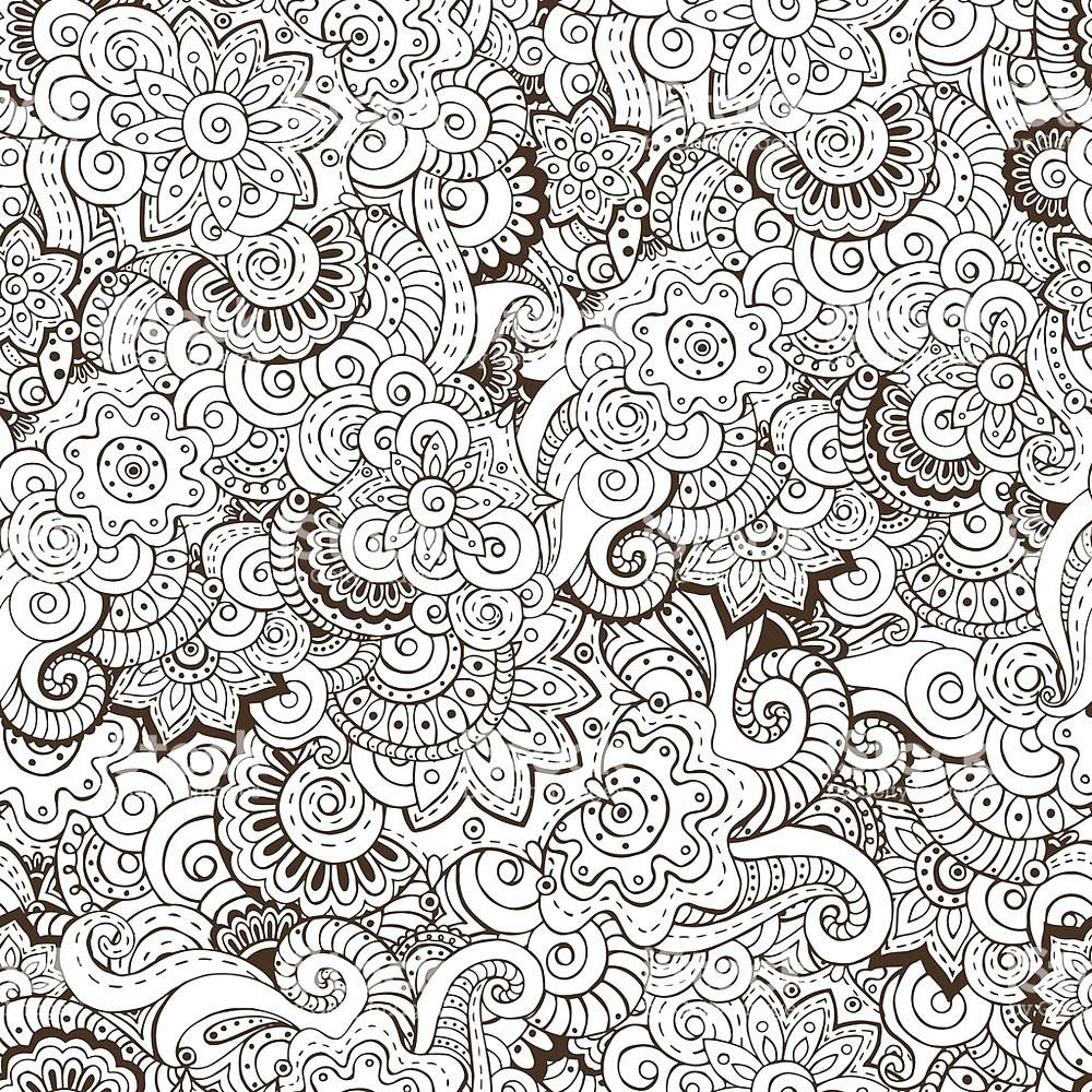 раскраска антистресс цветочные узоры а6