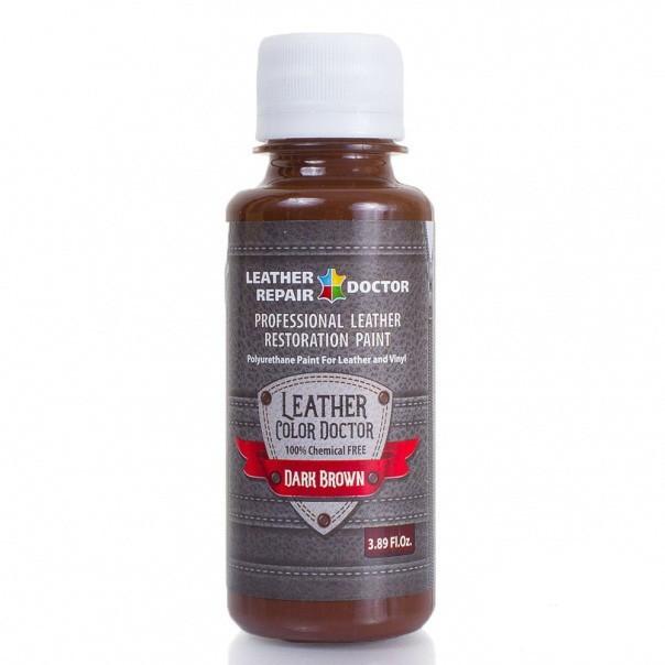 Жидкая кожа, полиуретановая — темно-коричневая, 125 мл