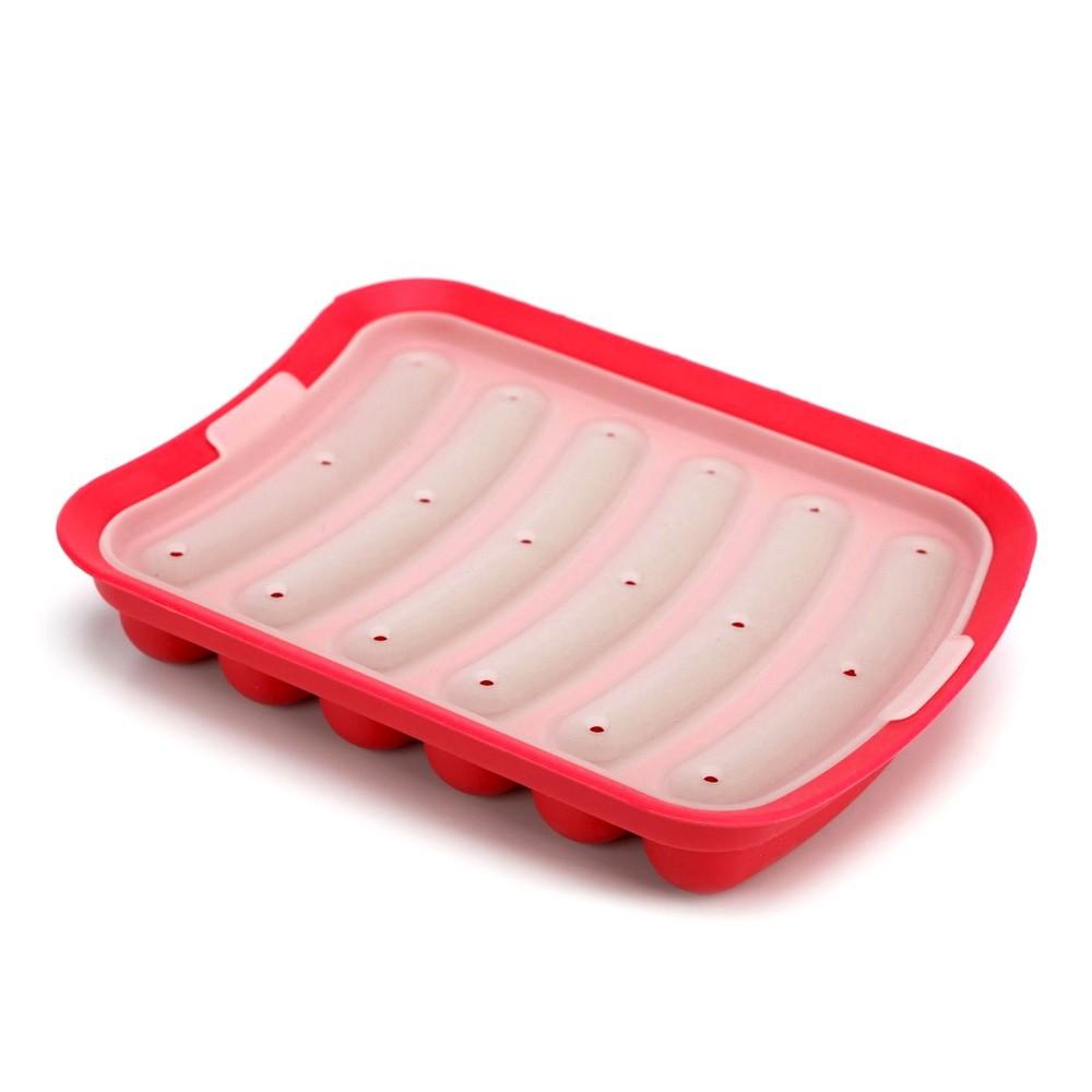 Форма для домашних сосисок и кебабов, красный фото