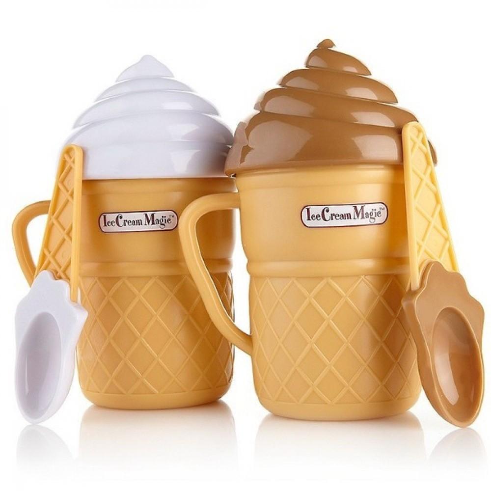 Стаканчик для приготовления мороженого Ice Cream MakerДля льда и мороженого<br>Если мороженое – это любимое лакомство в вашем доме, то перестаньте покупать химический продукт в магазинах! Предлагаем вам научиться готовить вкусное  и полезное мороженое в домашних условиях. Минимум ингредиентов, всего три минуты и максимум удовольствия – все это стаканчик для приготовления мороженого Ice Cream Maker!<br>