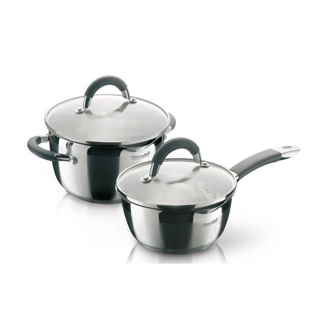 Набор посуды 4 пр. Rondell Flamme 340RDS RDS-340Кастрюли<br>Функциональность наборов посуды серии Flamme способна привести в восторг практичных хозяек. С помощью эксклюзивного и элегантного носика, который присутствует на каждом предмете наборов, можно аккуратно и безопасно сливать воду, не открывая крышки и не боясь обжечься горячим паром. Очень удобны крышки наборов тем, что имеют 2 специальных отверстия, выполняющих функцию дуршлага – хозяйкам теперь нет необходимости приобретать и использовать его отдельно.<br>