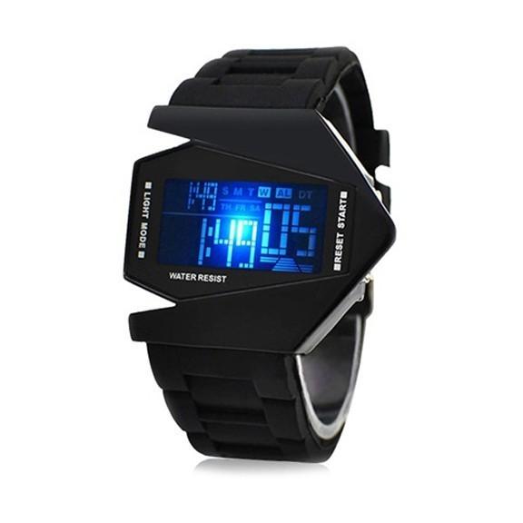 Часы Истребитель Стелс - Stealth LED watchСпортивные LED часы<br>Если вы или ваш близкий просто обожает стильные и многофункциональные аксессуары, то часы Истребитель Стелс - Stealth LED watch станут настоящей находкой! Этот презент не оставит равнодушным никого: ни спортивную девушку, которая живет активно, ни мужчину, который любит выглядеть всегда в форме!<br>