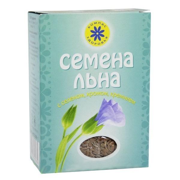Семена Льна с селеном, хромом, кремнием - Компас Здоровья, 200г