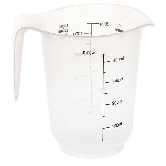 Кувшин мерный 0,5л прозрачно-белый от MELEON