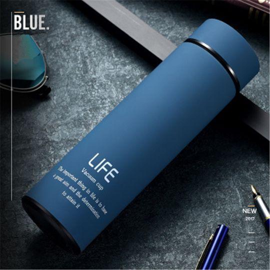 Термос Life с вакуумной крышкой, синий