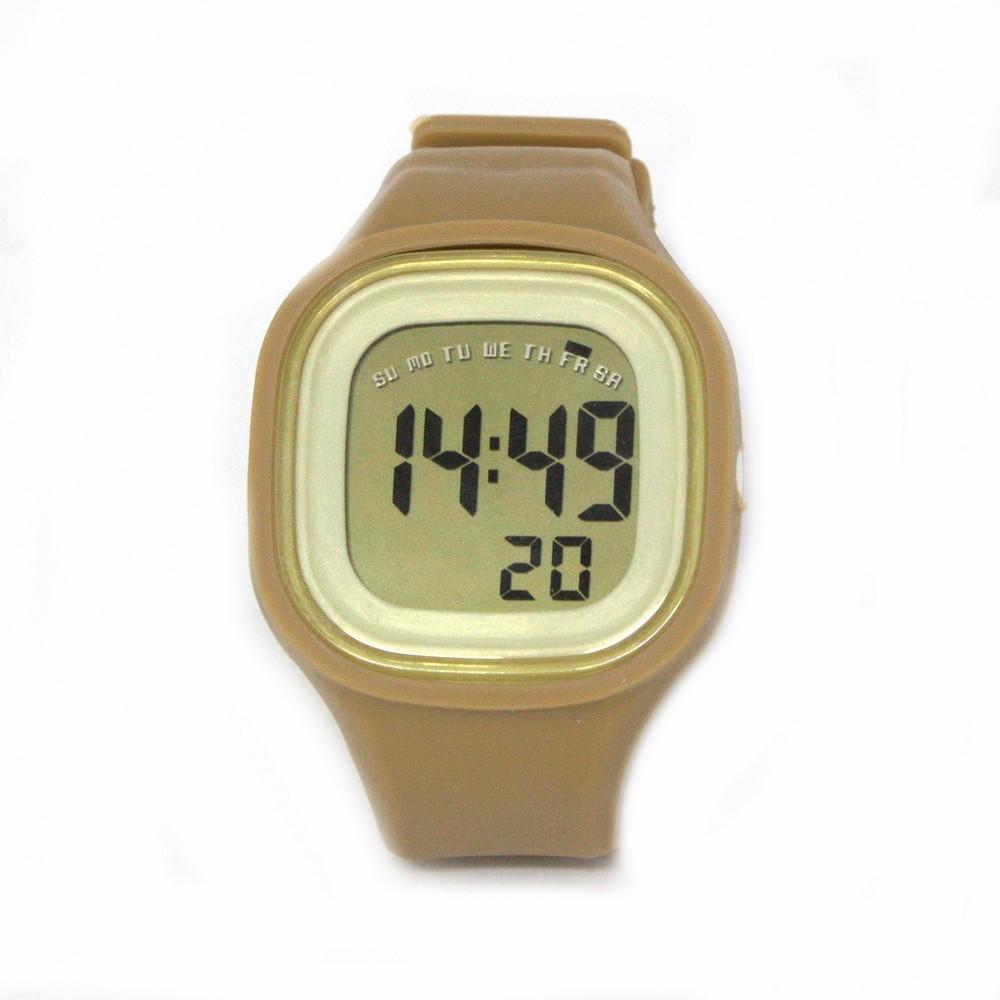 Силиконовые LED часы SHORS SH-689 бежевыйСпортивные LED часы<br>Электронные LED часы поддерживают функцию отображения даты и недели. Водонепроницаемость  30м. Подходят, как для женщин, так и для мужчин<br>
