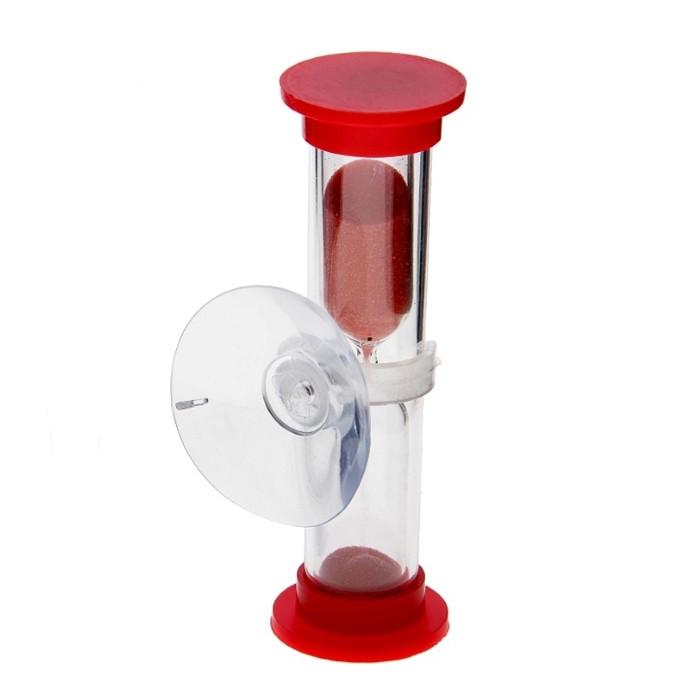 Песочные часы на присоске - 3 минуты, 8см, цвет миксОстальное для здоровья<br>В мире не существует человека, который не видел песочные часы и не знает принципа их работы. Этот древнейший аксессуар может не только немного успокоить вас, но и добавит уюта в ваш дом. Изделие будет выгодно смотреться среди привычных гаджетов и инновационных устройств, а благодаря присоске вы можете зафиксировать его на любой вертикальной поверхности!<br>