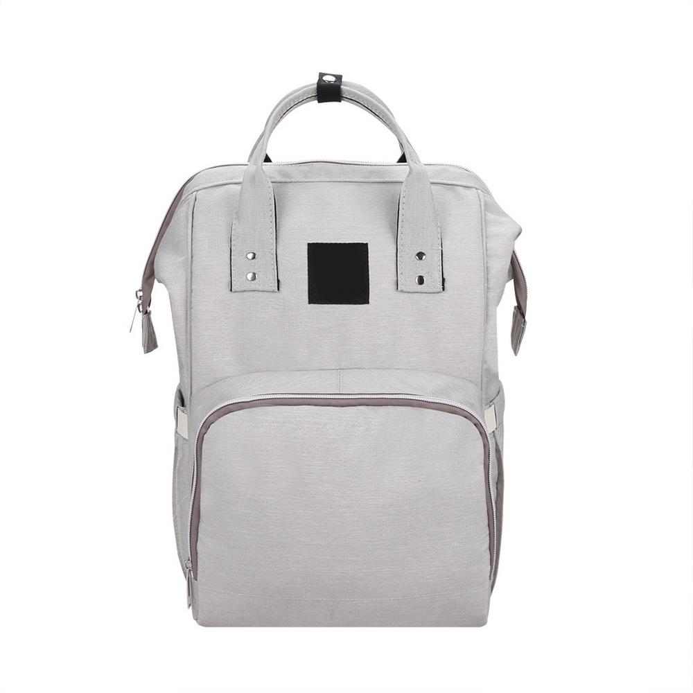 Сумка-рюкзак для мамы Baby Mo с USB, цвет в ассортименте, серый