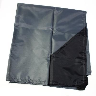 Коврик для пляжа и пикника с карманами - beach mat, 1 местный (70x200 см), в чехле, темно-серый