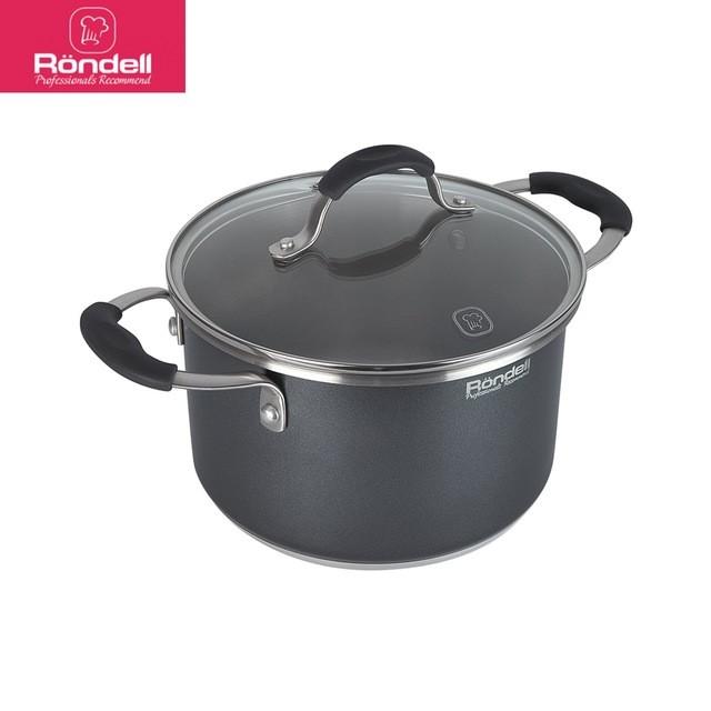 Кастрюля Rondell (3,9 л) Stern RDS-010Кастрюли<br>Благодаря этой кастрюле, вы сможете сохранить витамины и микроэлементы. А главное – вы получите экономию до 30% времени на приготовление блюд.<br>