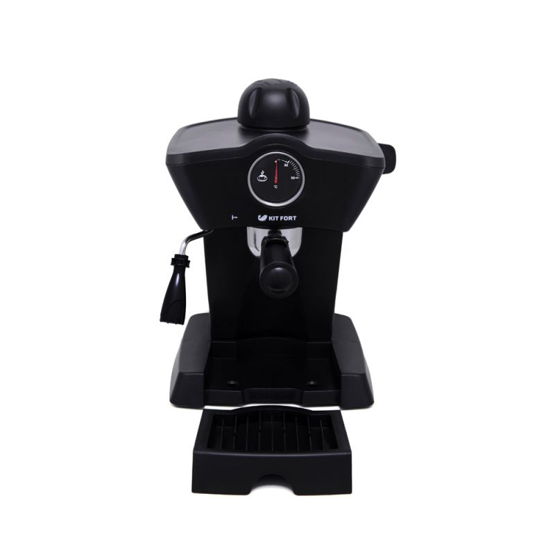 Кофеварка Kitfort КТ-706Кофеварки и кофемашины<br>Рожковая полуавтоматическая эспрессо-кофеварка Kitfort КТ-706 может приготовить до 4 чашек кофе за один раз, оснащена функцией взбивания молока для приготовления капучино, а также поможет разогреть напитки горячим паром.<br>