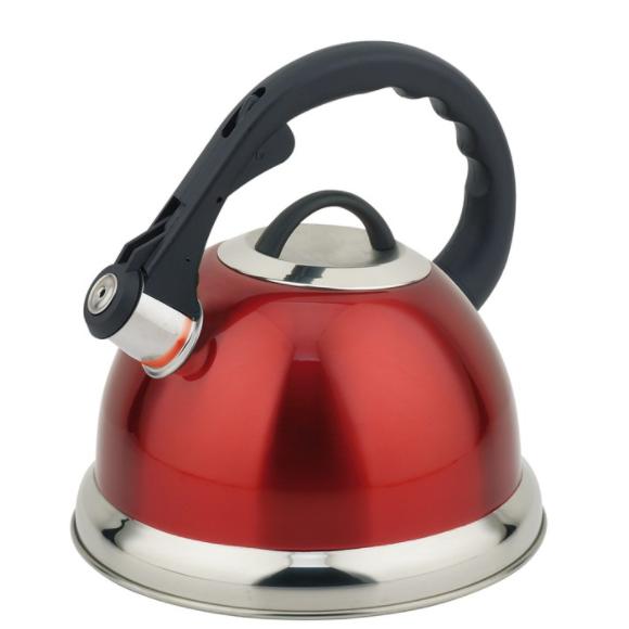 Чайник TECO 3л, красныйЧайники металлические<br>Чайник оборудован свистком для определения закипания воды и изготовлен из высококачественной нержавеющей стали. Капсульное дно распределяет тепло равномерно по всей поверхности, что обеспечивает быструю скорость закипания.<br>