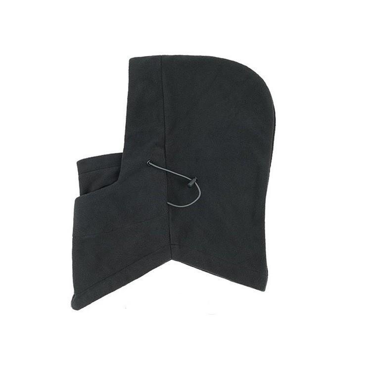 Флисовая шапка маска - черная