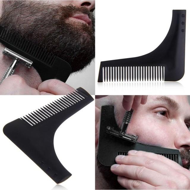 Расческа - шаблон для бритья бороды, чернаяРасчески<br>Как обеспечить своей бороде идеальную форму без помощи специалистов из салоны красоты? Вам поможет компактная и простая в использования расческа - шаблон для бритья бороды!<br>