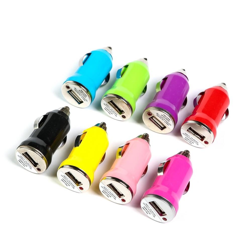 Автомобильное зарядное устройство Torso, 1 USB, 1,0 А, цвет микс