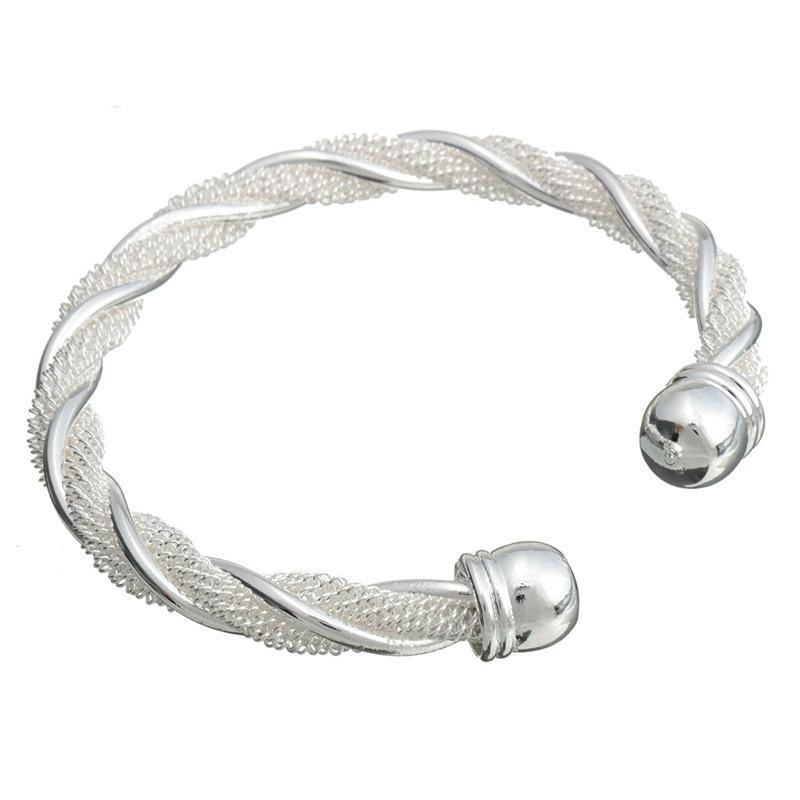Браслет Плетенка - покрытие серебро 925 от MELEON