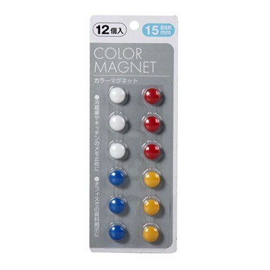 Цветные магниты для холодильника - 12 шт.Остальное<br>Если вы часто оставляете записки для своих близких на холодильнике или фиксируете там важную информацию для себя, то скорее знакомьтесь с цветными магнитами для холодильника. Круглые изделия хорошо удержат любую бумагу или плоские предметы!<br>