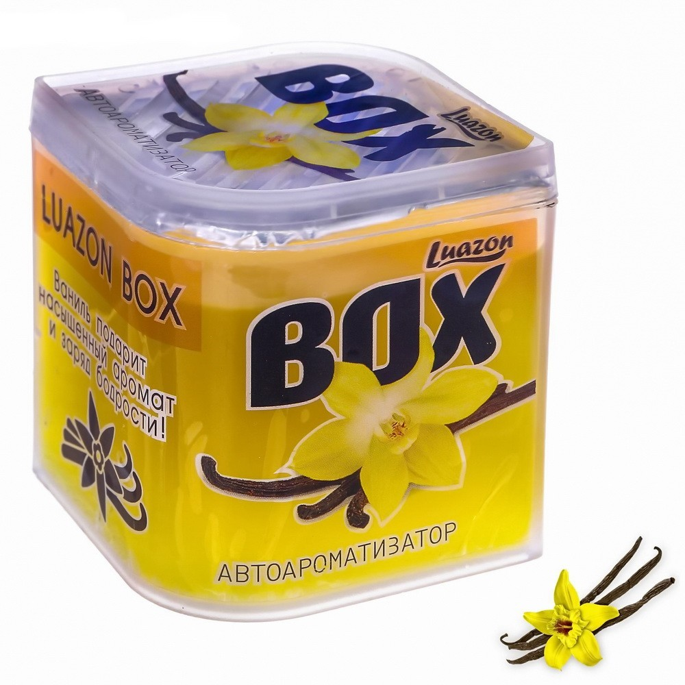 Ароматизатор в банке - Luazon Box, ванильОстальное<br>Много времени проводите в салоне автомобиля? Интернет магазин Мелеон знает, что нужно сделать, чтобы воздух внутри всегда оставался свежим и приятным. Ароматизатор в банке «Luazon Box»!<br>