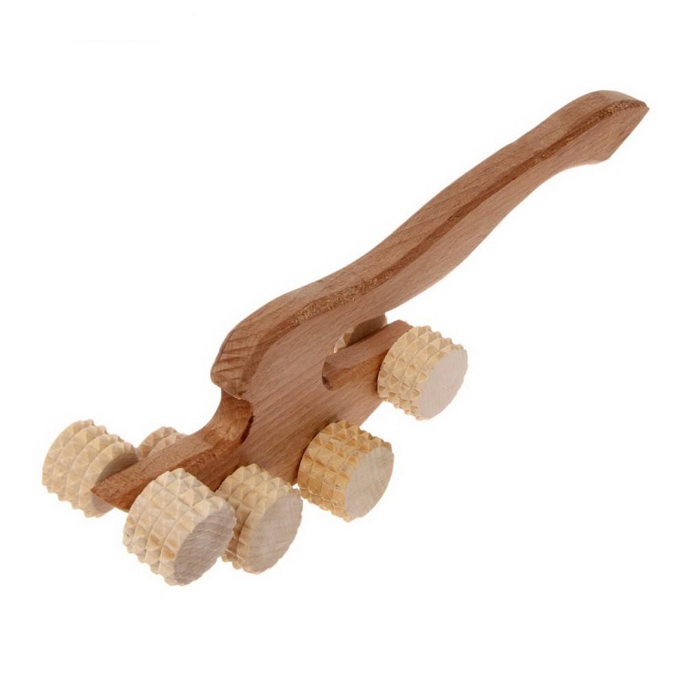 Массажер деревянный -Топорик, 8 роликов от MELEON