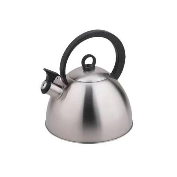 Чайник TECO TC-111Чайники металлические<br>Чайник DIOLEX-TECO TC-111 оборудован свистком для определения закипания воды и изготовлен из высококачественной нержавеющей стали. Входящий в состав стали никель является сильным аллергеном и обладает канцерогенными свойствами. Ручка модели очень удобна и не нагревается, т.к. изготовлена из бакелита.<br>