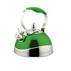 Чайник TECO 3,0 л, зелёныйЧайники металлические<br>Чайник со свистком «Teco» - выполнен из долговечной и прочной стали, которая не окисляется и устойчива к коррозии. Объем чайника составляет 3 литра, оснащен свистком, благодаря которому вы можете не беспокоиться о том, что закипевшая вода зальет плиту.<br>