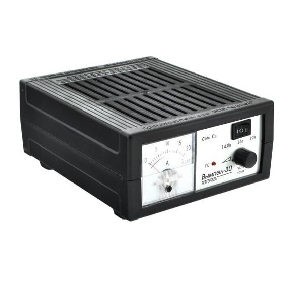 Зарядное устройство Вымпел-30Зарядные для аккумуляторов<br>Зарядное устройство Вымпел-30 – это усовершенствованная модель предшественником и улучшенный аналог серии «Орион». Предназначен для зарядки аккумуляторов 12В. Встроенный стабилизатор напряжения до 18В.<br>
