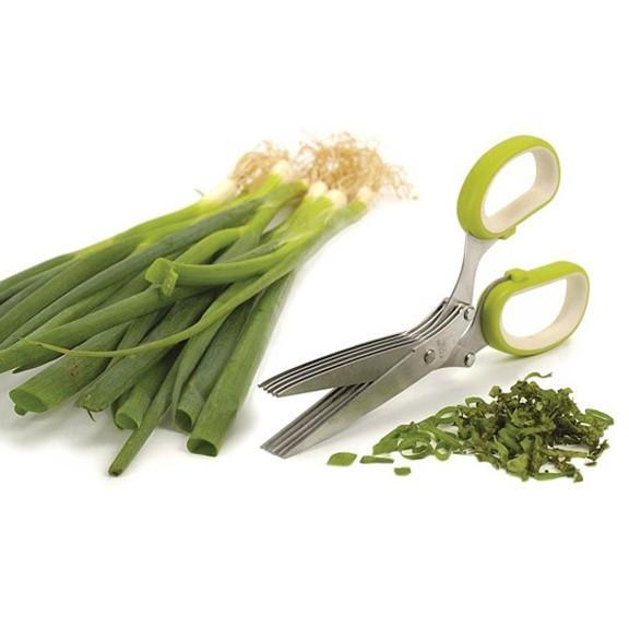 Ножницы для нарезки зелени - 5 лезвийОстальные гаджеты<br>Зелень можно крошить прямо в сковороду, миску или тарелку с готовым блюдом. Можно применять для салатных листьев, ветчины, грибов и т.п.<br>