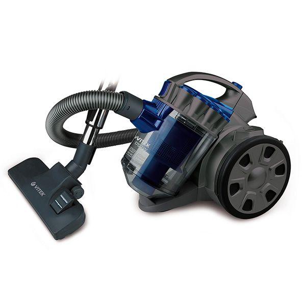 Пылесос без мешка синего цветаПылесосы и фильтры к ним<br>Пылесос Vitek VT-1895 станет настоящим подспорьем, если вы планируете генеральную уборку дома.<br>