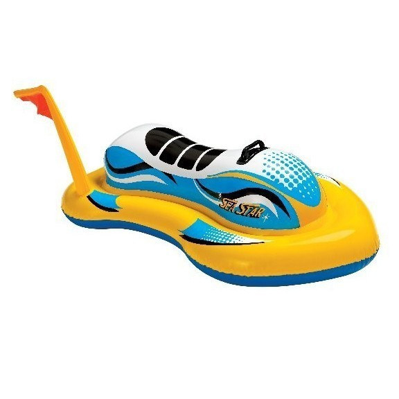 Игрушка надувная для плавания Скутер с ручками 117х77 см, от 3 летДля отдыха на воде<br>Скутер надувной INTEX с ручкой позволит малышу почувствовать себя настоящим покорителем водных просторов! Для удобства и безопасности игрушка оборудована прочной пластиковой ручкой. Размеры: 117 х 77 см<br>