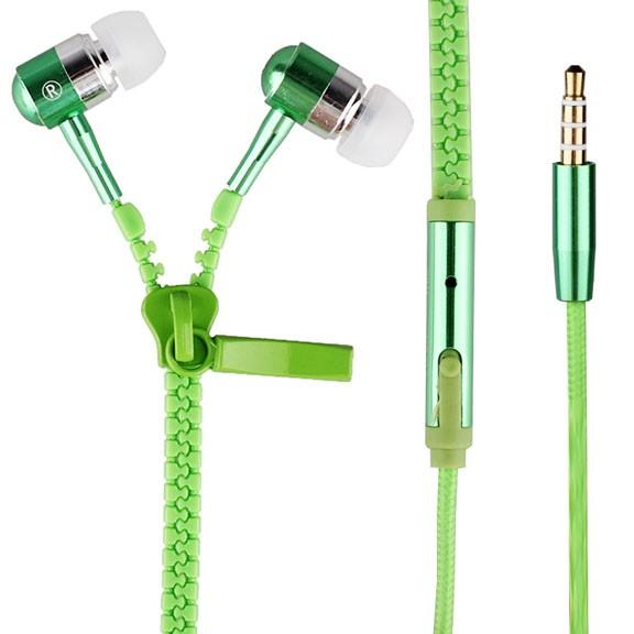 Наушники на молнии Zipper, зеленыеОстальные гаджеты<br>Послушать музыку – это неизбежно распутывать наушники? У вас тоже такая проблема? Предлагаем уникальное решение – наушники на молнии Zipper! Никогда не запутываются, ультрамодные во всех сезонах, сочные молодежные цвета.<br>