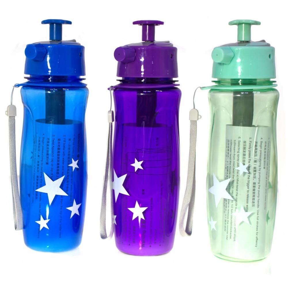 Спортивная бутылка с распылителемФляжки и канистры<br>Спортивная бутылка с распылителем – это незаменимый аксессуар для любителей активного образа жизни. Вы можете не только утолить жажду во время тренировки, но и немного освежиться.<br>
