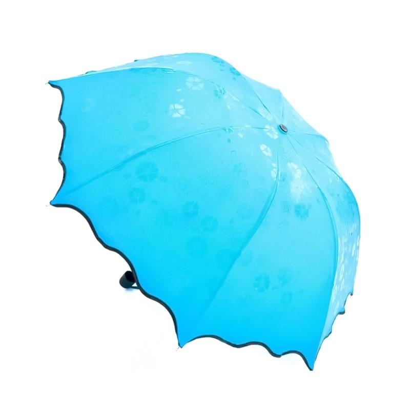 Зонт с проявляющимся рисунком, голубой