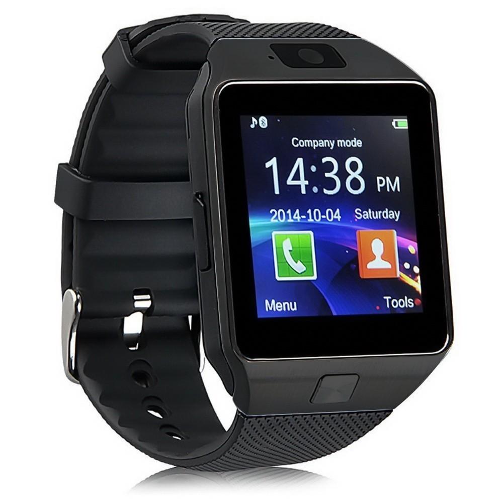 Умные часы DZ09 - Smart Watch DZ-09 - черные, черный ремешокУмные Smart часы<br>Шагомер, подсчет затраченных калорий, прием уведомлений, будильник, календарь, калькулятор, браузер, проигрывание аудио- и видеофайлов…А вы знаете, что все эти функции может выполнять не только ваш телефон, но и часы? Скорее знакомьтесь с новинкой, которая завоевала мир. Это - умные часы DZ09 - Smart Watch DZ-09, которые только сейчас можно купить в интернет магазине Мелеон по суперцене!<br>